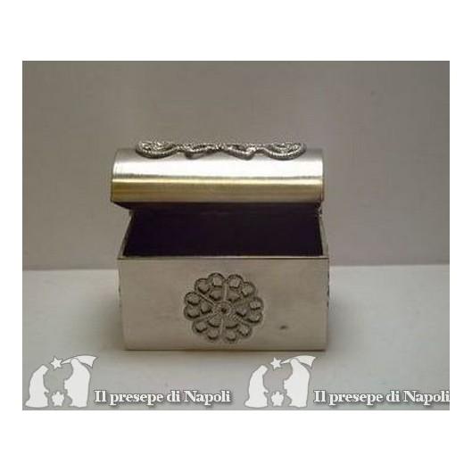 Forziere grande argento cm 5 x pr.cm 2,5 x h cm 4
