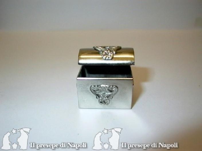 Forziere piccolo argento cm 3 x pr. cm2 x h cm3