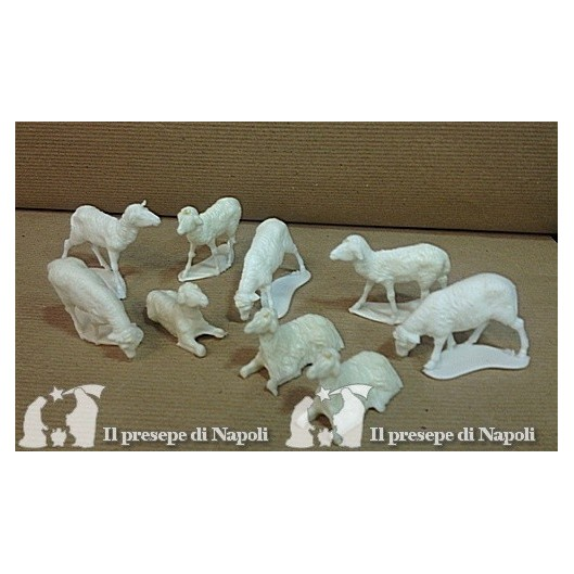 kit 10 pecore per pastori cm 10