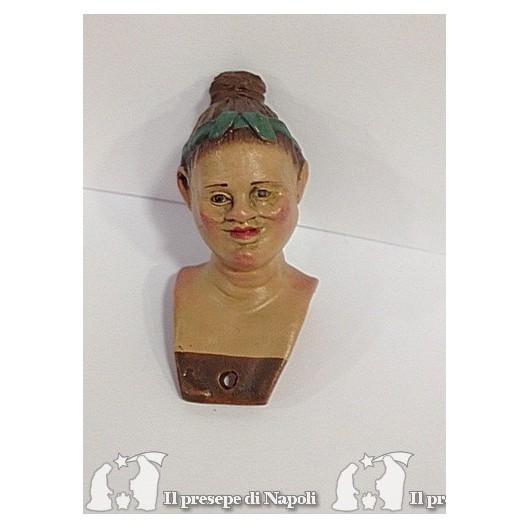 donna con nastro -(testa colorata)