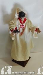 pulcinella cm 25 con occhi di vetro e vestito fatto a mano e bugia