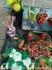 Banco con frutta e verdura per pastori cm 40
