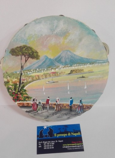 tamburella napoletana dipinta a mano