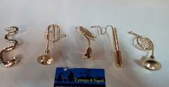 kit strumenti musicali oro per pastori cm 25