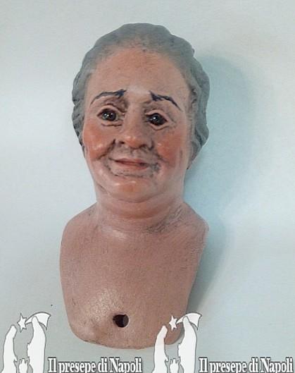 donna grassotella (testa colorata)
