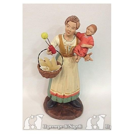 Donna con bambino in braccio