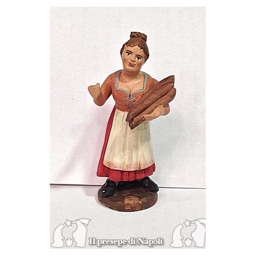 Donna con legna in mano
