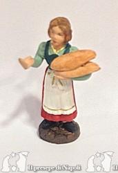 donna con pane