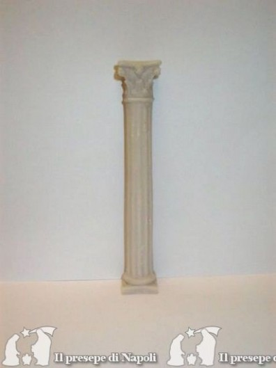 Colonna rigata resina cm 21