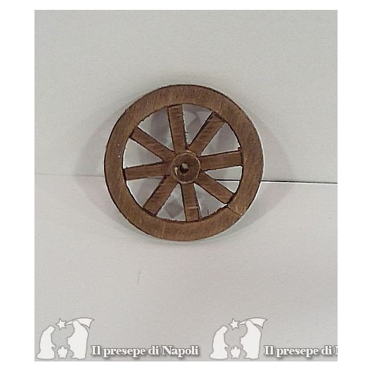 Ruota in legno diametro cm 4,5