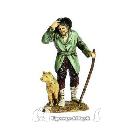 viandante con cane e bastone