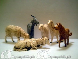 kit pecore con cane e capra