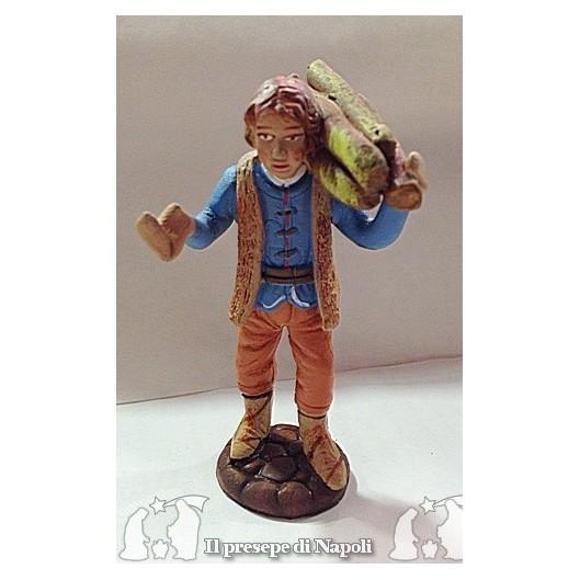 ragazzo con legna sulle spalle