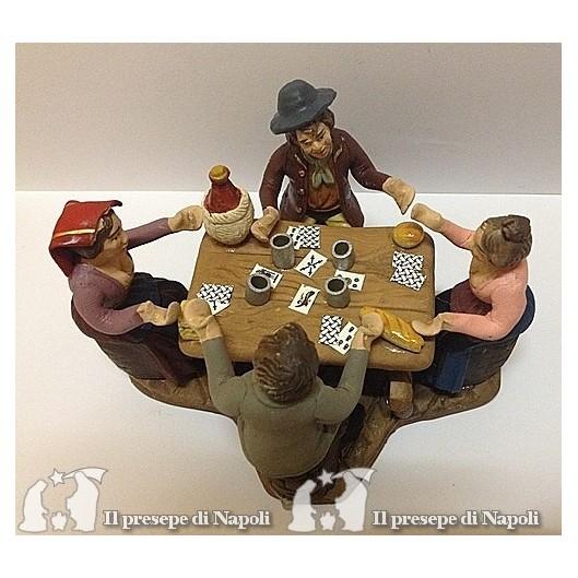 Pastori a tavola che giocano