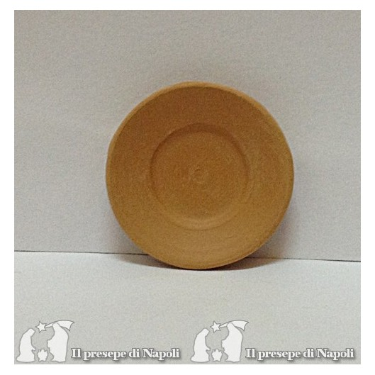 piatto in terracotta d cm 3