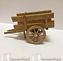 carretto di legno ( per pastori cm10)