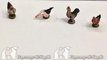 gallo o galline per pastori cm 3,5- 4