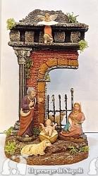 Tempio con pastori di terracotta cm 7