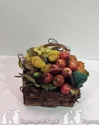 cesto rettangolare con frutta per pastori cm30