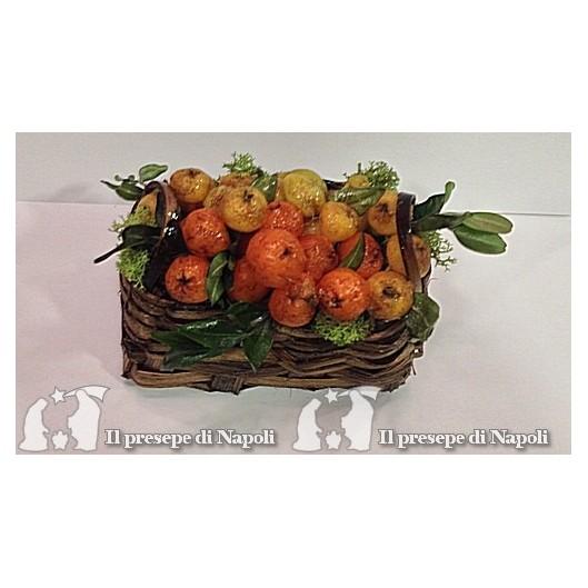 cesto con arance per pastori cm 30 (grande)