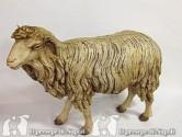 pecora alzata con occhi di vetro per pastori cm 35-40
