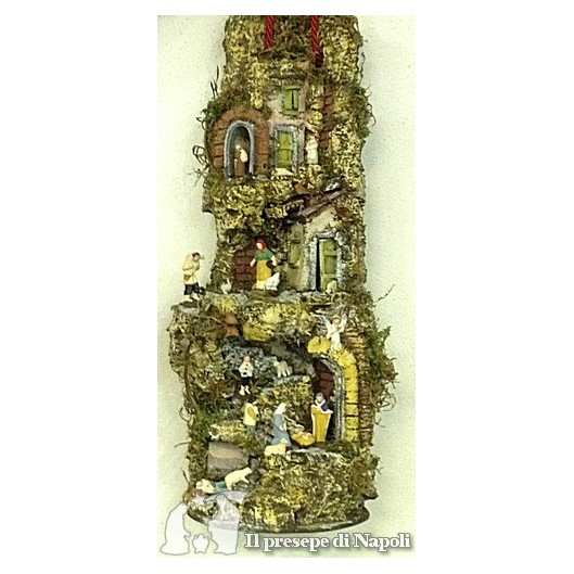 Tegola a muro con pastori di terracotta artigianato napoletano