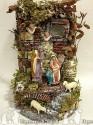 solo Tempio per campana 20x30 con pastori in terracotta cm 11