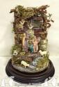 Tempio completo di campana 20 x 30 e pastori di terracotta cm 11