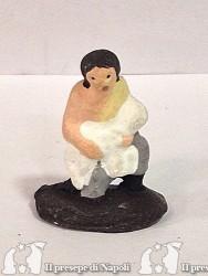 pastore in ginocchiato con pecora (tipo nuovo)