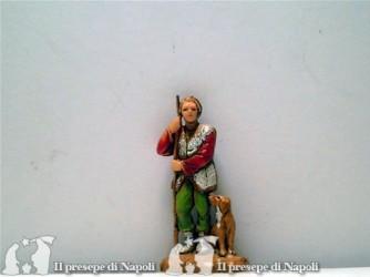 Uomo con bastone e cane
