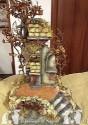Tempio per pastori di cm 20-25 tutto in legno e sughero