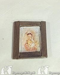 quadro di legno con Madonna