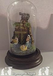 scena con pastori cm 3,5 in terracotta in campana cm 6 x12