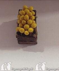 cassetta di legno con limoni ( tipo nuovo)