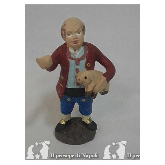 uomo con maialino