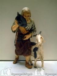 Vecchio con capra