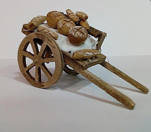 carretto di legno con pane