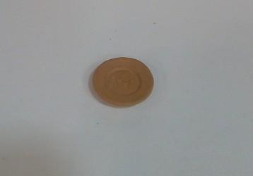 piatto di terracotta cm 1,5