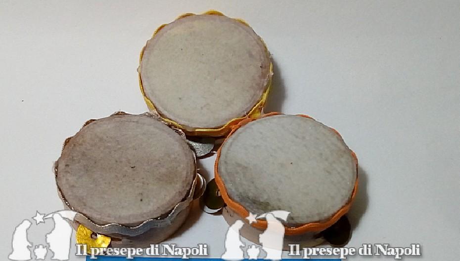 tamburella napoletana non dipinta