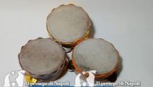 tamburella napoletana non dipinta dm cm 4,5