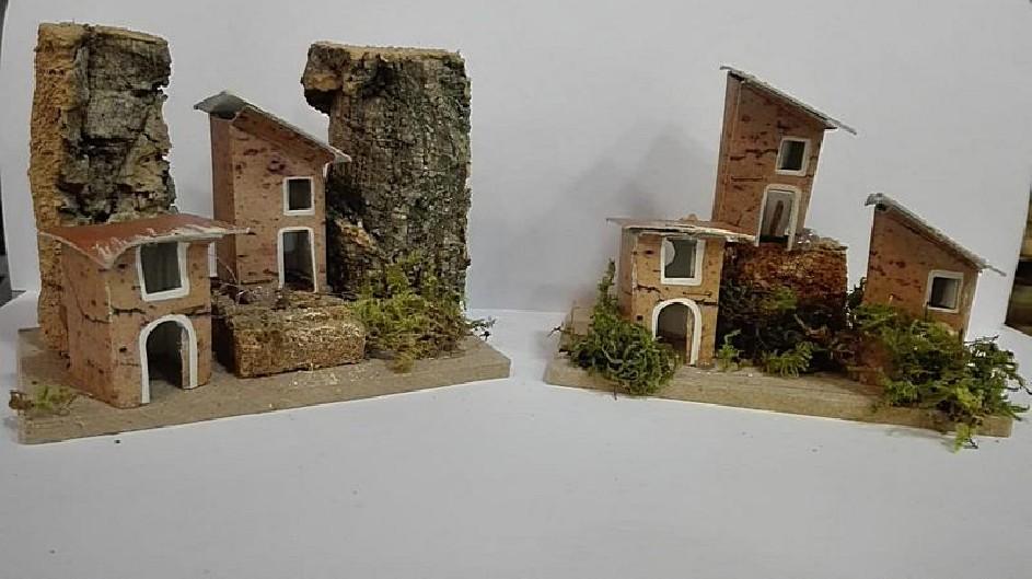 mini scenetta casette piccole