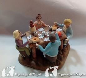 Gruppo giocatori di carta 4 pastori