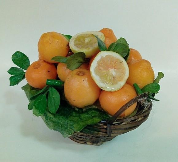 cesto rotondo con arance