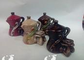 Caffettiera napoletana con maschera di pulcinella  cadauno(colori assortiti)