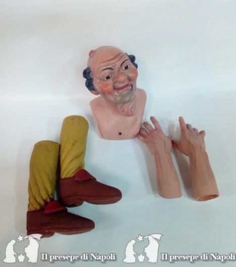 vecchio con gozzo (kit testa mani e piedi)