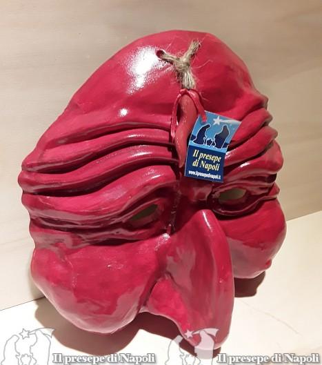 Maschera gigante rossa