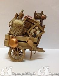 Carretto sfratto in legno (per pastori cm 8)