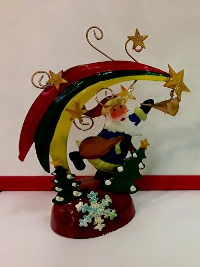 Babbo Natale da appoggio in latta cm 17 circa (stile vintage edizione limitata)