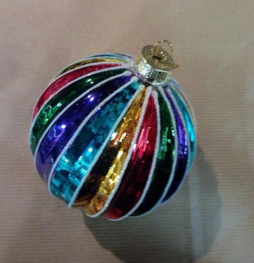 palla di vetro cm 10 multicolre (stile vintage)