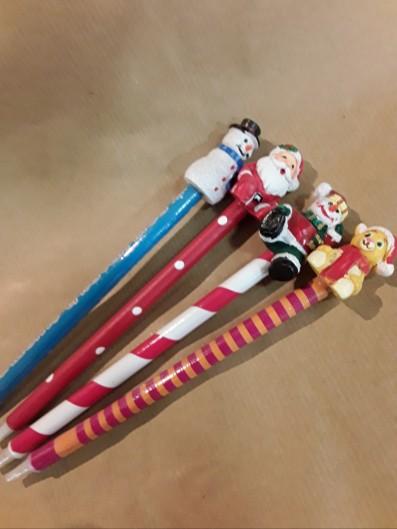Penna con soggetti di natale  (cadauno modelli assortiti)